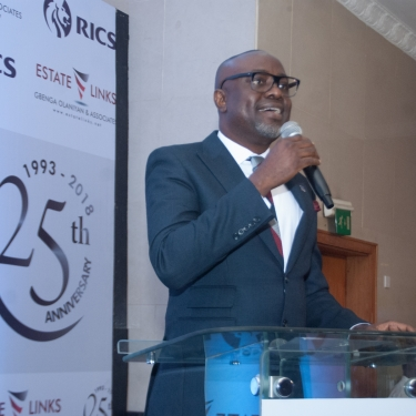 Gbenga Olaniyan delivering his closing remarks