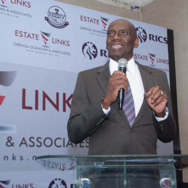Mr. Seyi Bickersteth Former Chairman KPMG Africa delivering his keynote speech